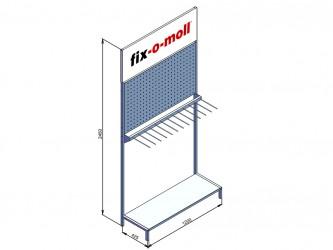 Стенд для продукции fix-o-moll с перфопанелью и крючками