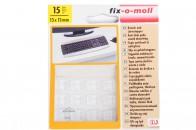 Пункты противоударные Fix-o-moll, квадратные 13 х13 мм, индивидуальная упаковка 15 шт. Арт. 15
