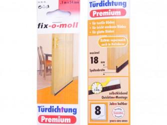Уплотнитель ПВХ между дверью и полом, щеточный, 1 м. Арт. 40...-