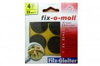 Пункты защитные фетровые  Fix-o-moll, d-35 мм, индивидуальная упаковка 4 шт. Арт.74