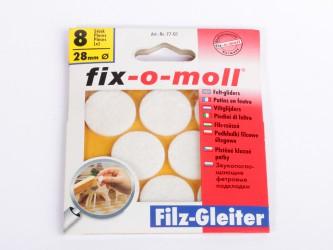 Пункты защитные фетровые  Fix-o-moll, d - 28 мм, индивидуальная упаковка 8 шт. Арт. 77