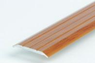 Порог стыкоперекрывающий окрашенный под дерево, 25 мм, с крепежом. Инд.упаковка, Арт. А25