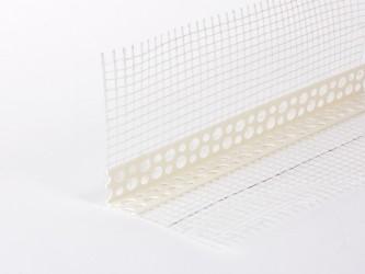 Уголок ПВХ перфорированный с армирующей стеклосеткой, длина 2,5/3,0 м. Арт. 130 2R; Арт. 128 2R