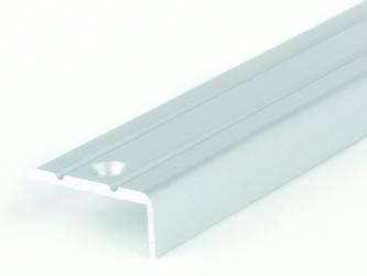 Порог анодированный для защиты кромок ступеней, 24 мм х 10 мм , с крепежом. Инд.упаковка. Арт. Д24х10