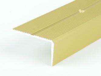 Порог анодированный для защиты кромок ступеней, 42 мм х 22 мм , с крепежом. Инд.упаковка. Арт. Д42х22