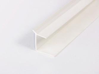 Профиль ПВХ для оконного откоса ГКЛ самоклеящийся, с мягкой кромкой 10 мм х 14 мм х 2,2/3,0 м. Арт. 127 2R 65 S