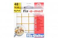 Пункты защитные фетровые  Fix-o-moll, квадратные 22 x 22 мм, индивидуальная упаковка 48 шт. Арт. 7848...-