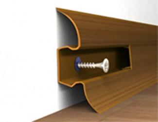 Плинтус ПВХ НП58 с мягкими краями и кабель-каналом 55 мм х 22 мм х 2,5 м. Арт. НП58