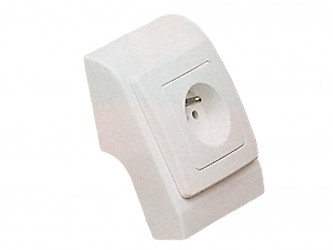 Подрозетник к плинтусу Вист, белый. Арт. 520PL